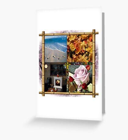 4 Seasons Greeting Card