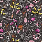 Forest treasures floral pattern by Alexandra Bordallo