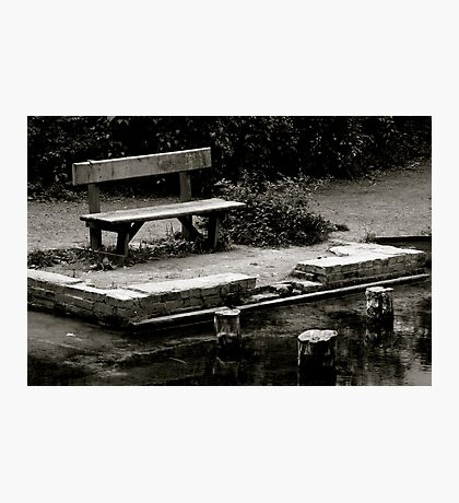 Empty bench at Silent Pool Photographic Print