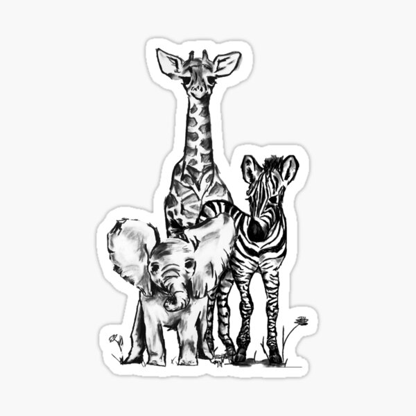 Safari - Baby Animals  Sticker
