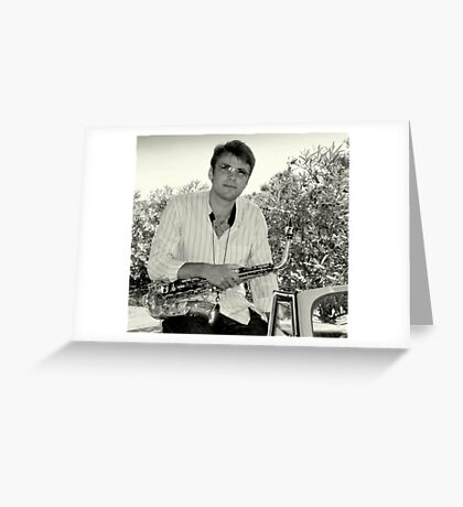 On the road again with Alex Terrier Greeting Card