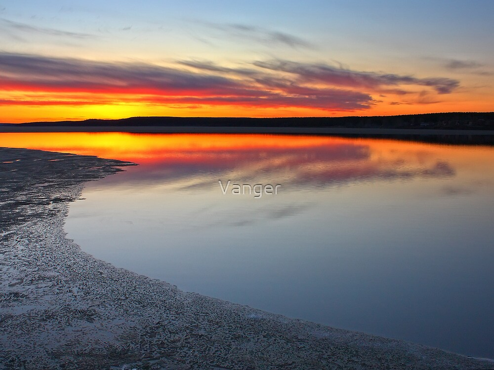 Lake in fire by Vanger