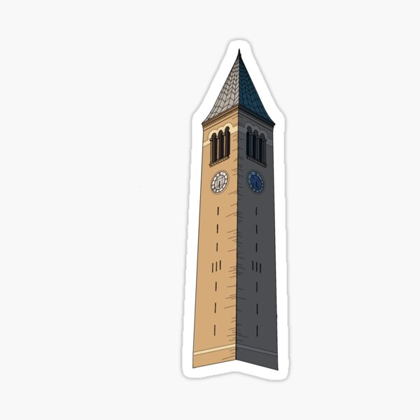 Cornell Tower Color | McGraw Tower Sticker