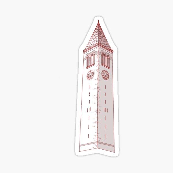 Cornell Tower Red | McGraw Tower Sticker