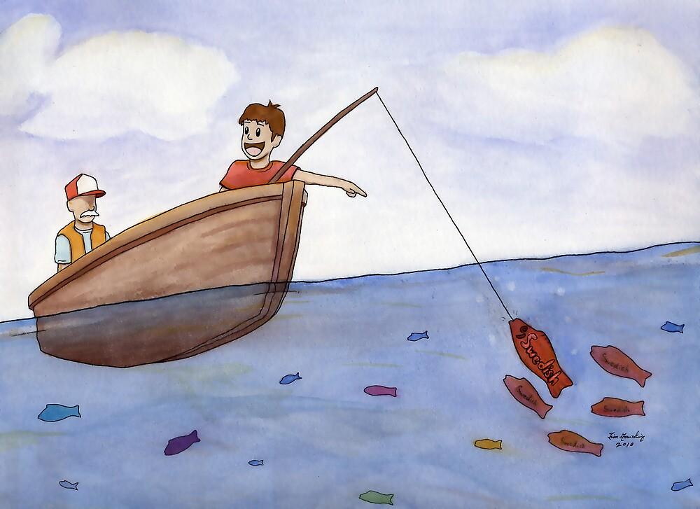 A Little Boy Swedish Fishing by Tim Gorichanaz