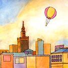 Hot Air Balloon over Warsaw II by Tim Gorichanaz