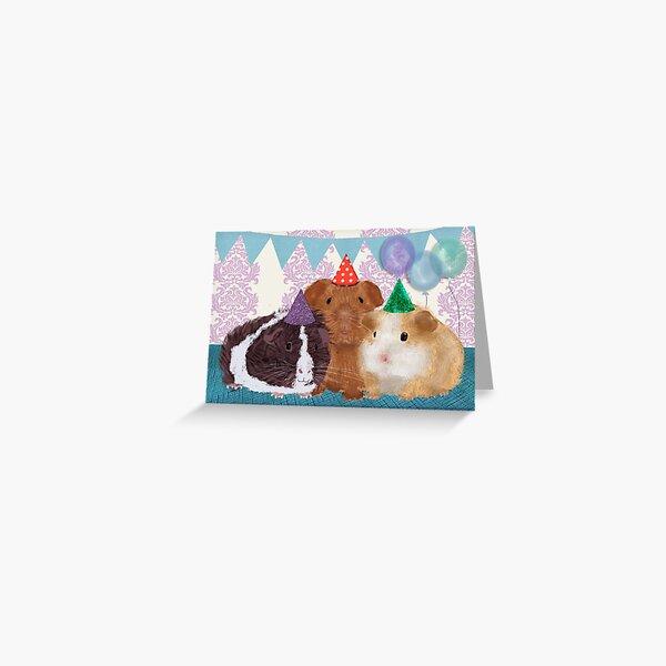 Meerschweinchen-Geburtstags-Karte Grußkarte