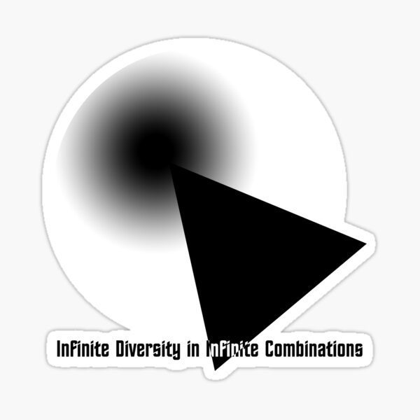 IDIC White & Black Sticker