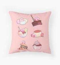 (Kirby) Desserts Throw Pillow