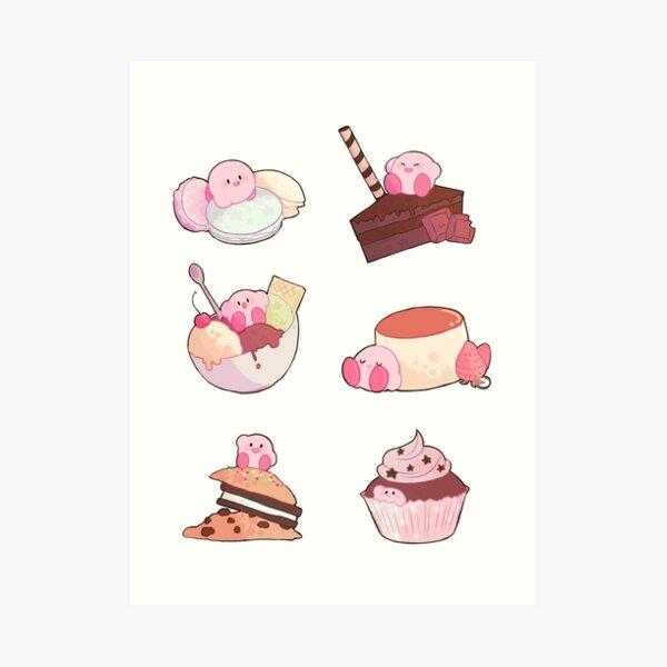 (Kirby) Desserts Art Print