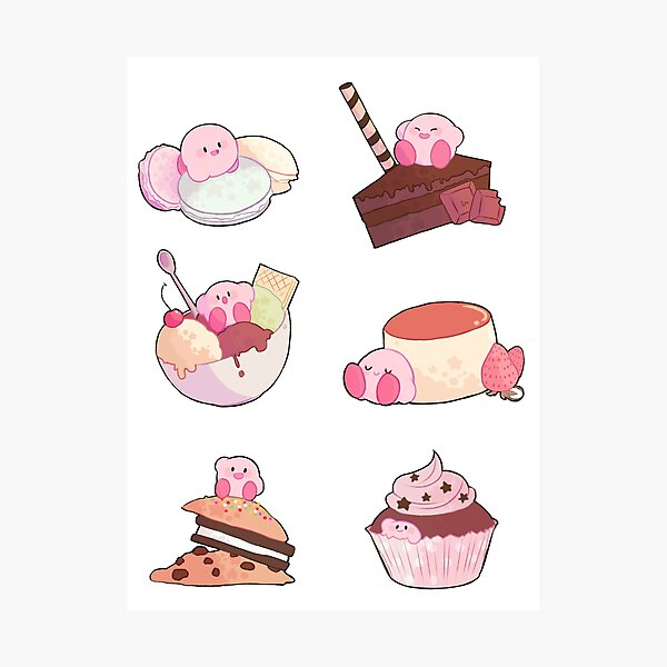 (Kirby) Desserts Photographic Print