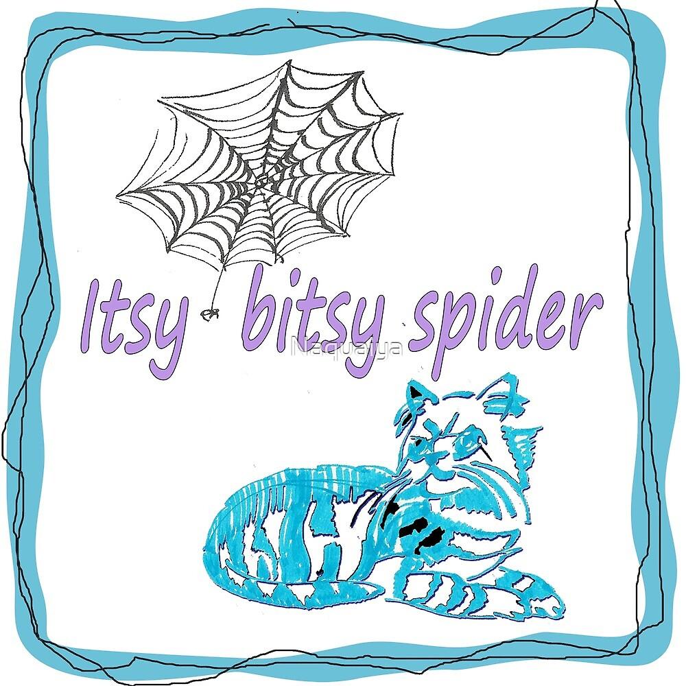 Itsy Bitsy Spider fun artwork for kids' stuff by Naquaiya