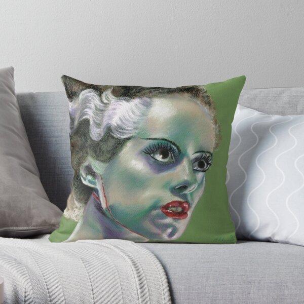 The Bride of Frankenstein Throw Pillow