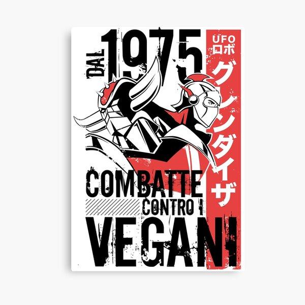 046b Goldrake Contro Vegani Canvas Print