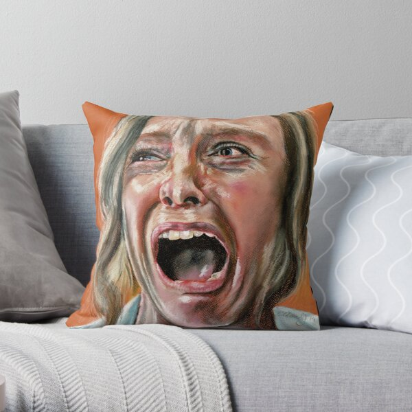 Annie from Hereditary Horror Movie  Throw Pillow