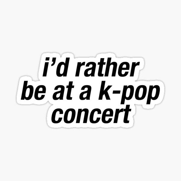 kpop concert meme Sticker
