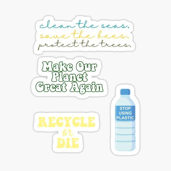 Package of Environment Stickers Sticker