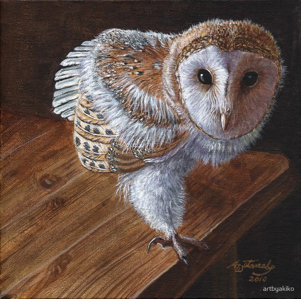 """Baby Barn Owl"" by artbyakiko   Redbubble"