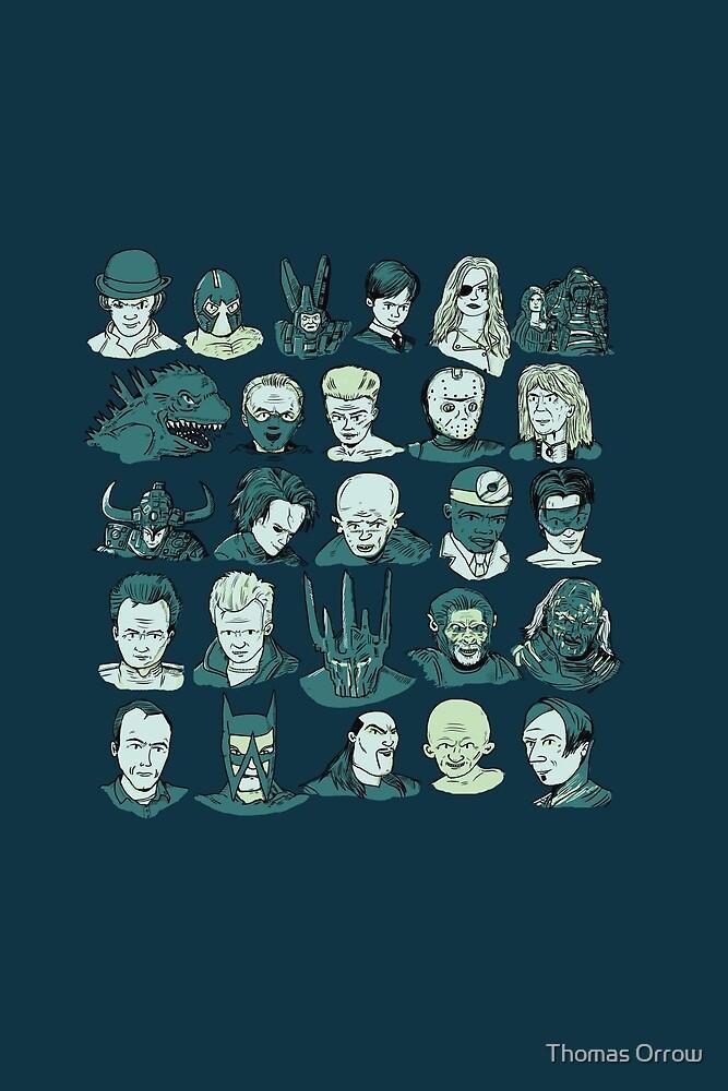 A-Z of Villains by Thomas Orrow
