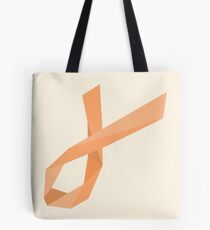 Geometric Womb Cancer Ribbon Tote Bag