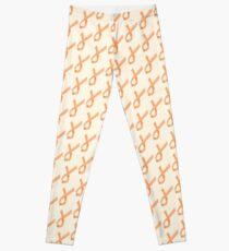 Geometric Womb Cancer Ribbon Leggings