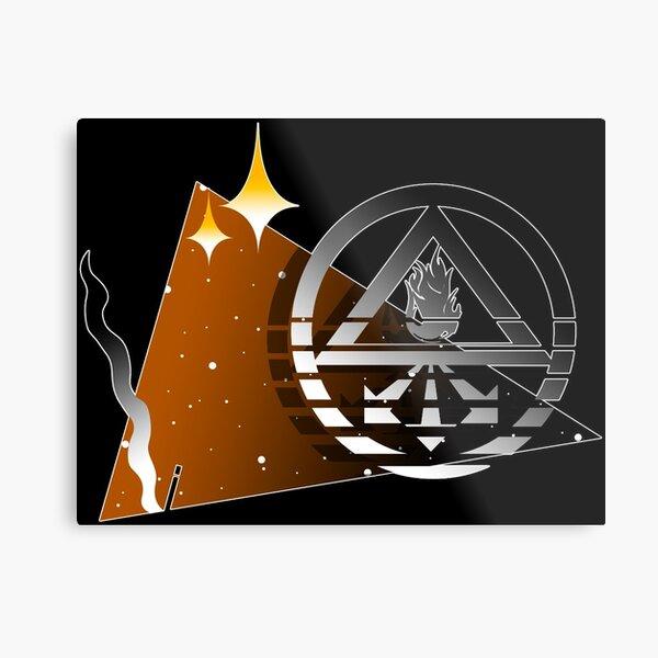 Retro John Constantine Symbol Metal Print