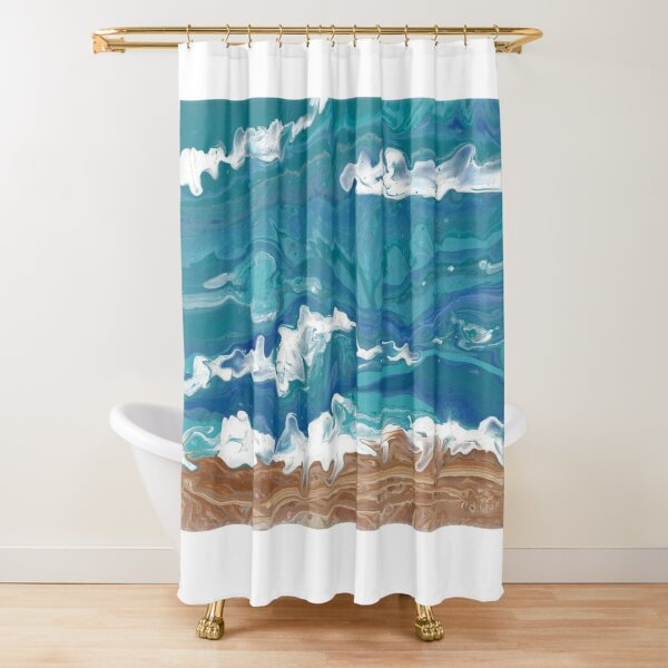 Wave Hello Shower Curtain