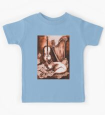 MUSICAL CAT AND OWL  Brown Sepia White Kids Clothes