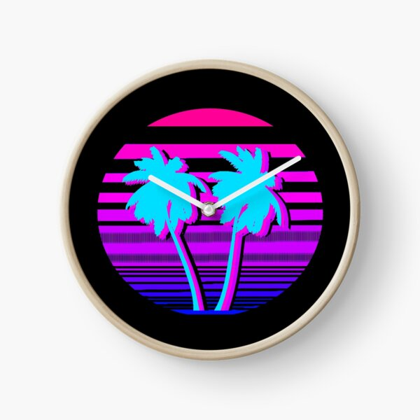 Aesthetic Palm trees Clock
