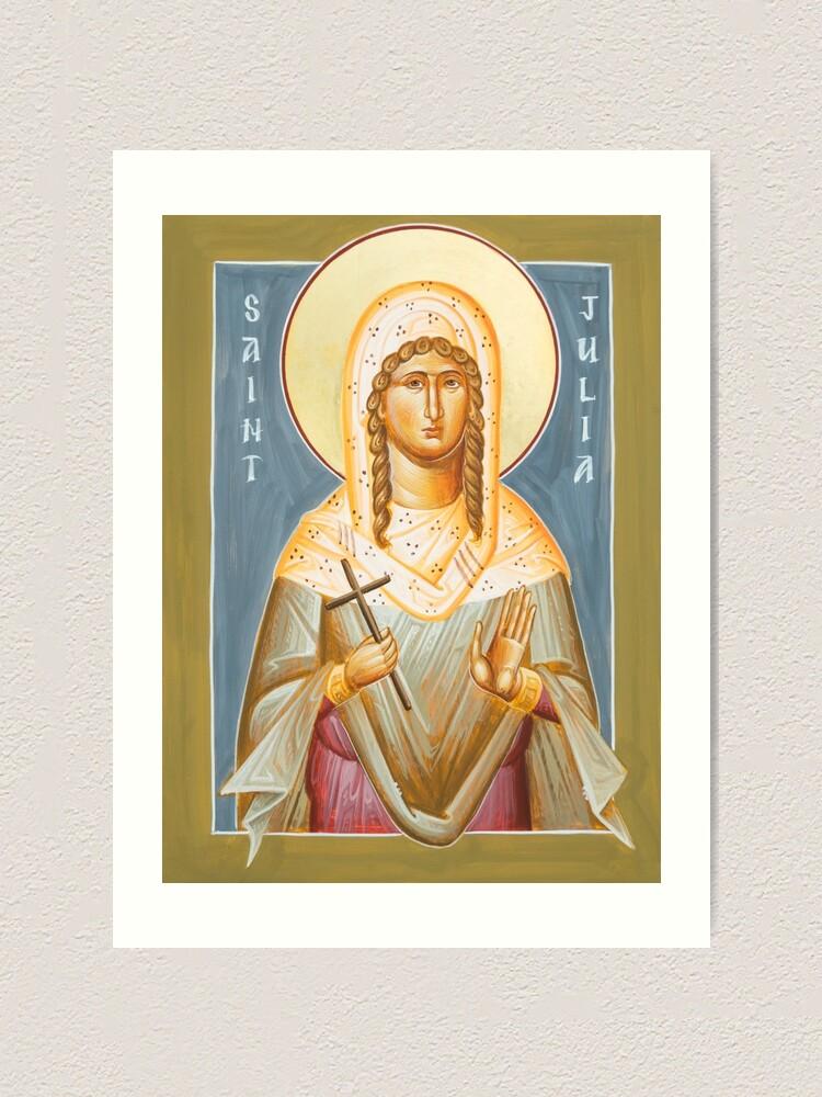 Alternate view of St Julia of Carthage Art Print