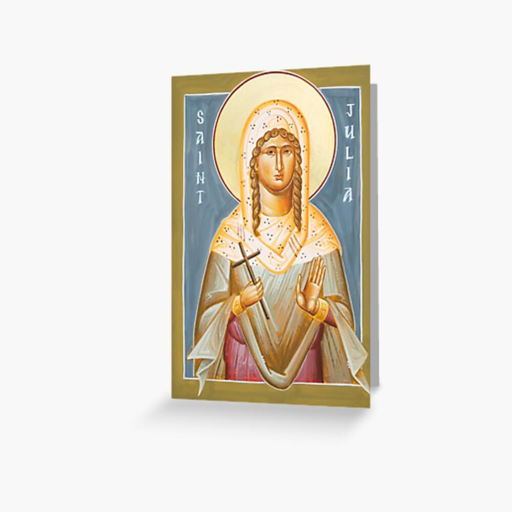 St Julia of Carthage Greeting Card