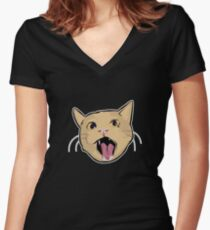 MOAR! no text Women's Fitted V-Neck T-Shirt
