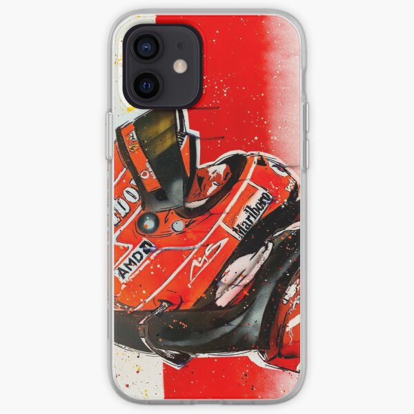 Michael Schumacher - Ferrari F1 graffiti painting by DRAutoArt iPhone Soft Case