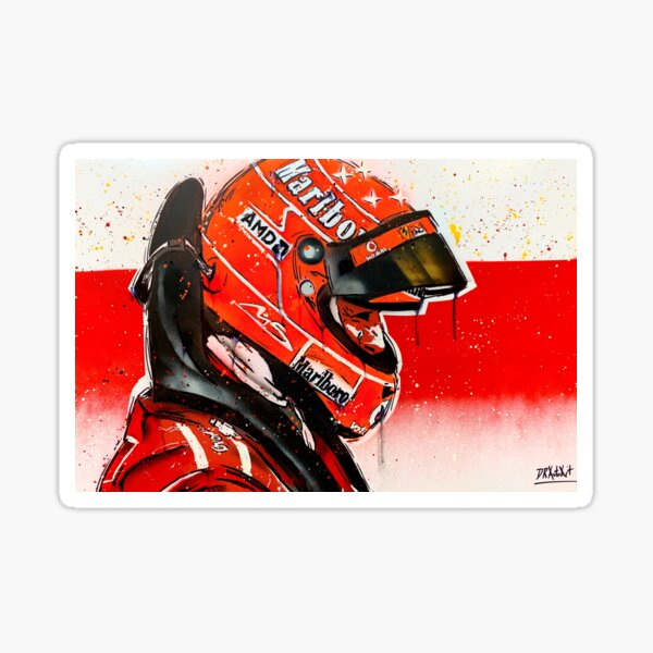 Michael Schumacher - Ferrari F1 graffiti painting by DRAutoArt Sticker