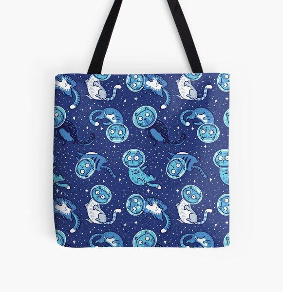 Galaxy cats All Over Print Tote Bag