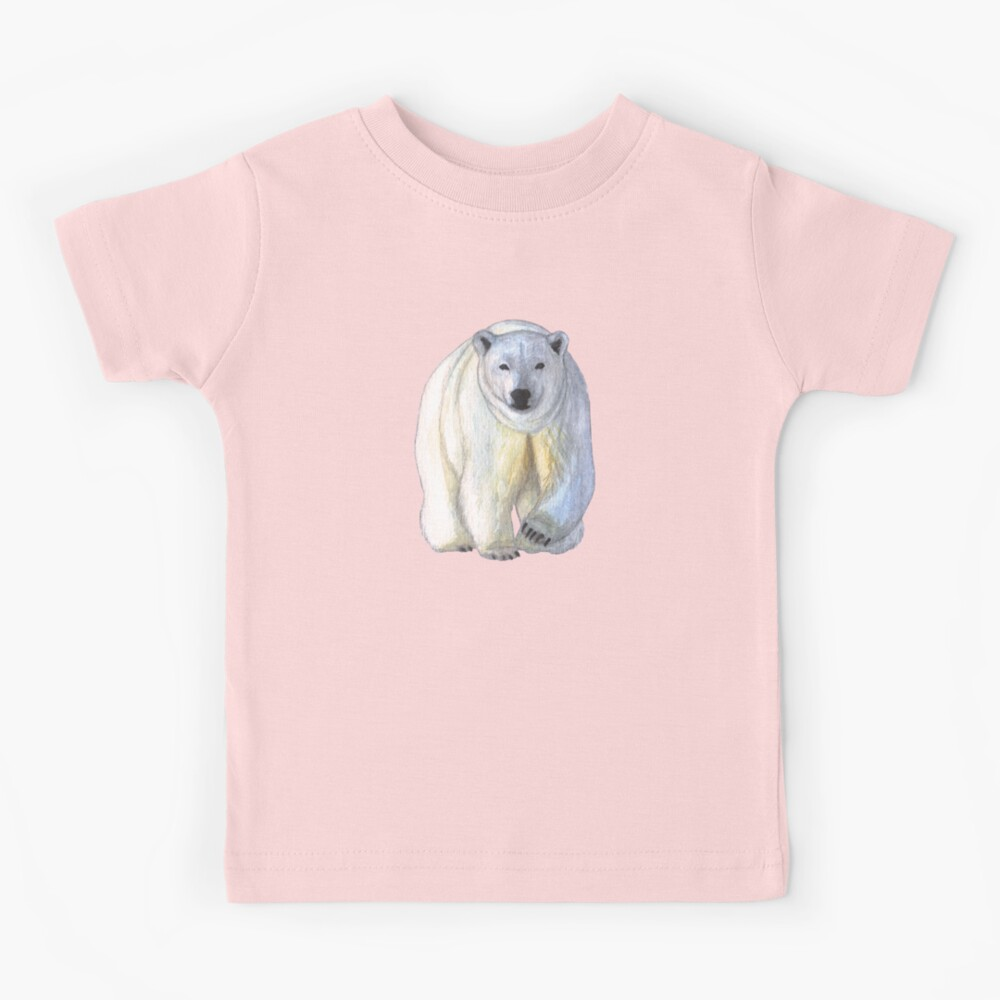 Polar bear in the icy dawn Kids T-Shirt