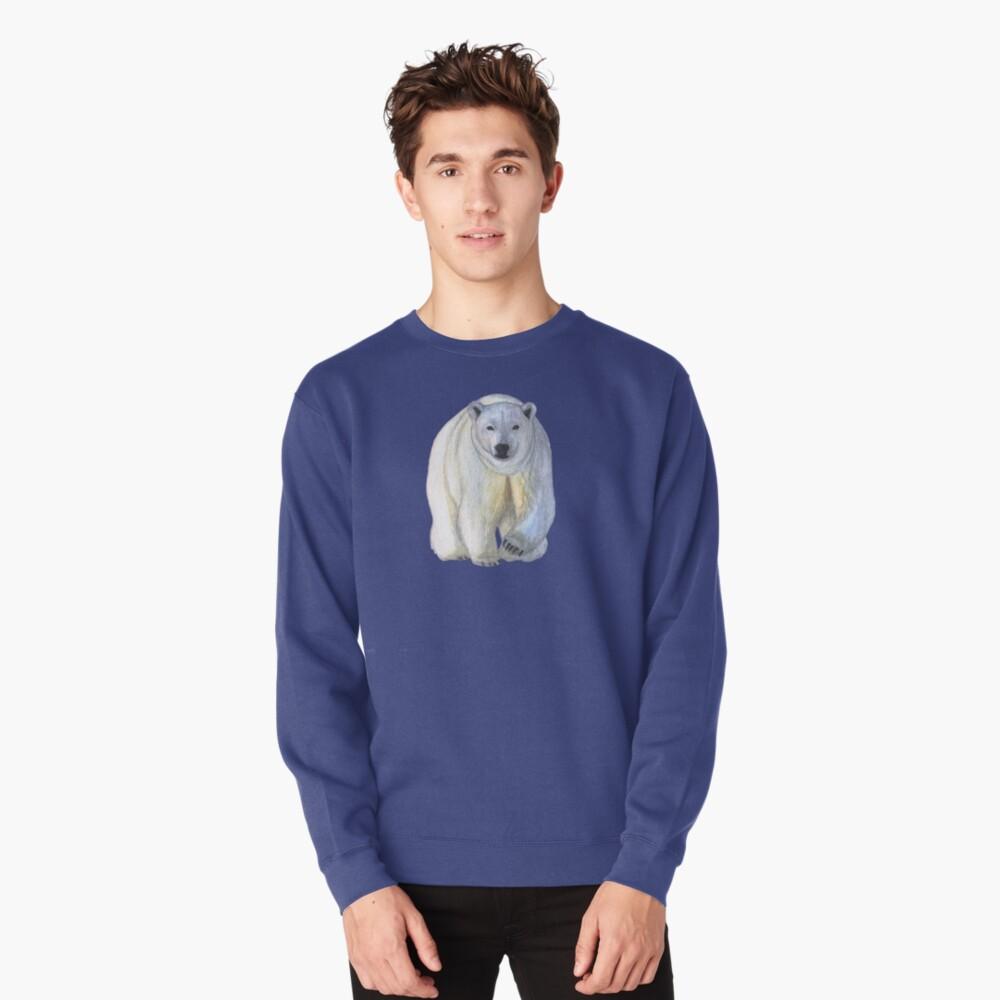 Polar bear in the icy dawn Pullover Sweatshirt