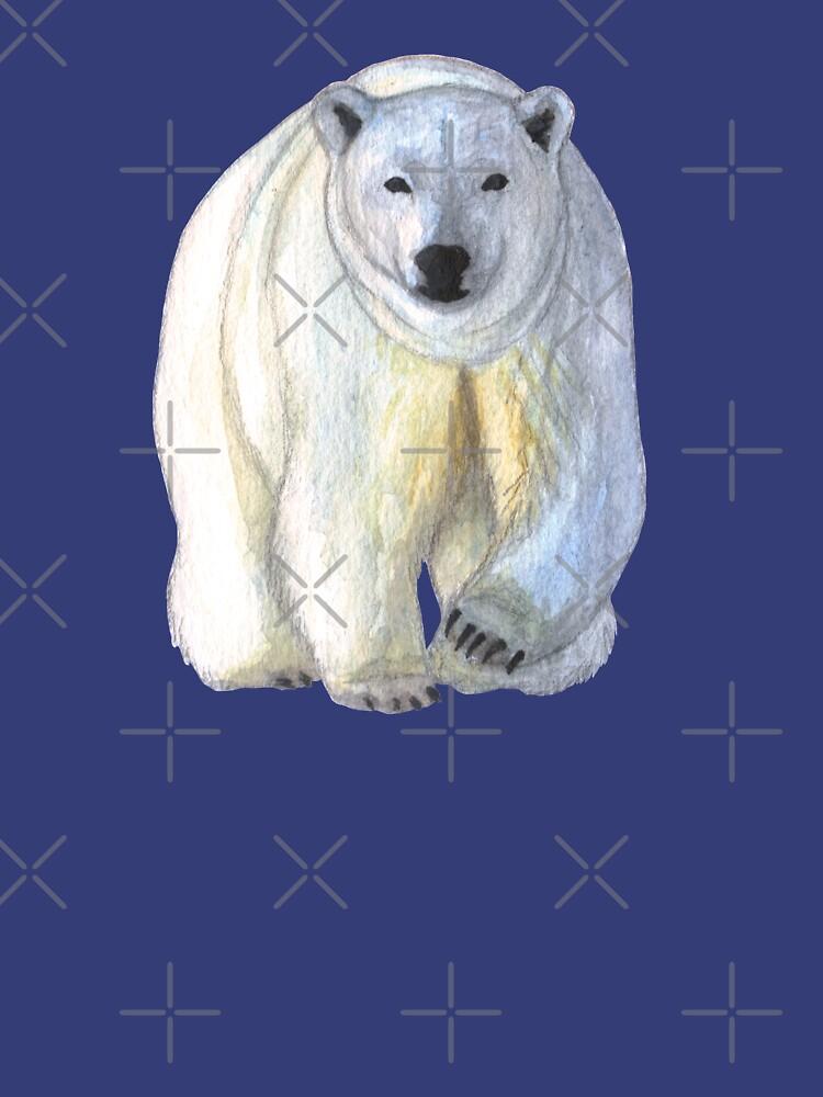 Polar bear in the icy dawn by savousepate