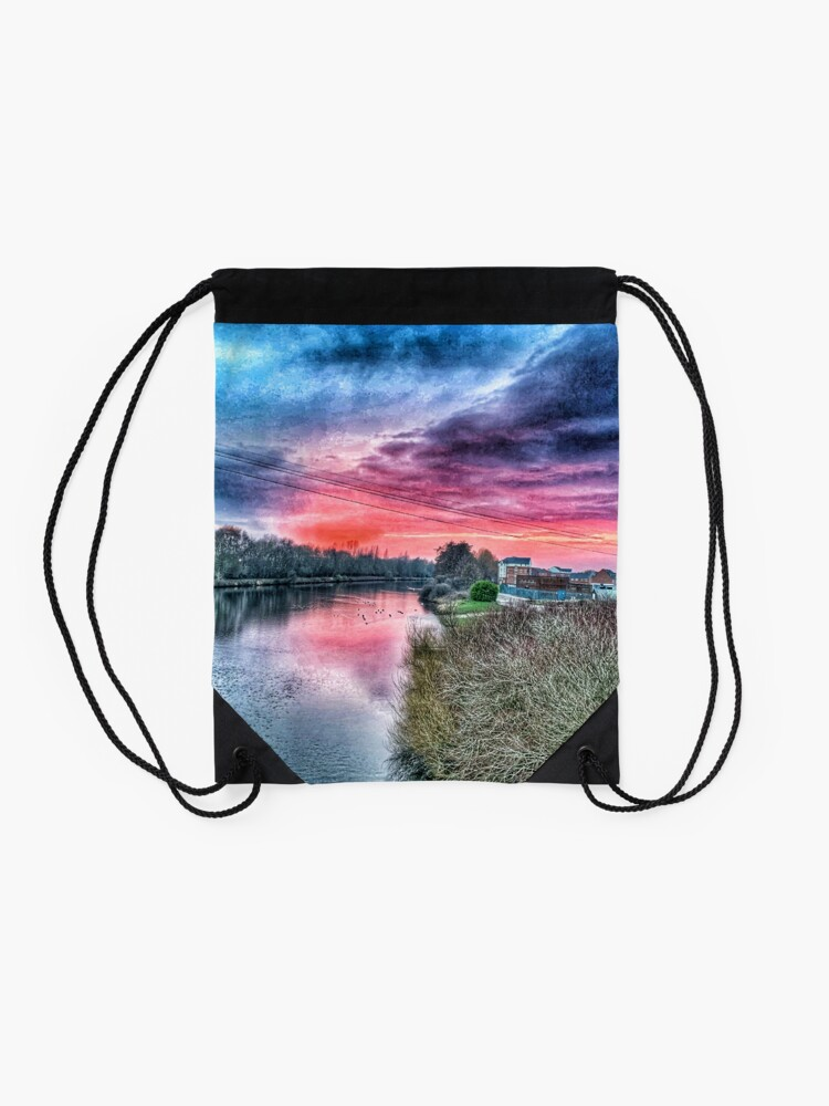 Alternate view of River Mersey  Drawstring Bag