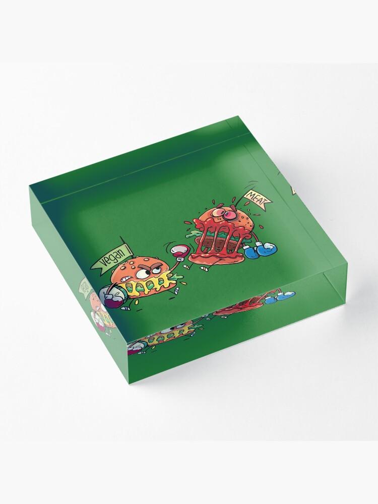 Alternate view of hamburgers fight Acrylic Block