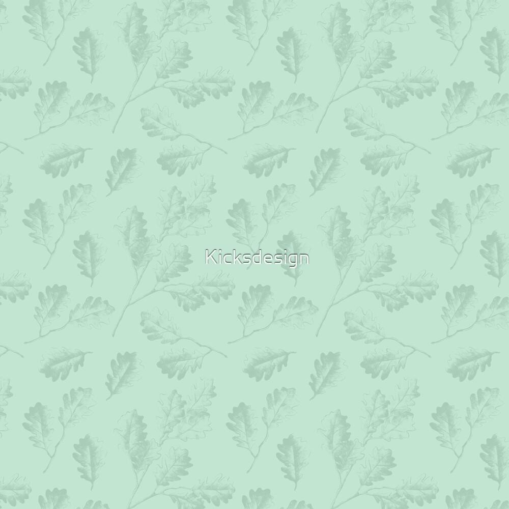 Tadellose grüne Wintereiche verlässt botanische Illustration von Kicksdesign