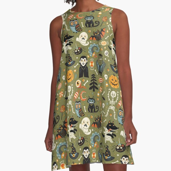 Happy Halloween A-Line Dress