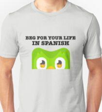 Duolingo Bird Funny Slim Fit T-Shirt