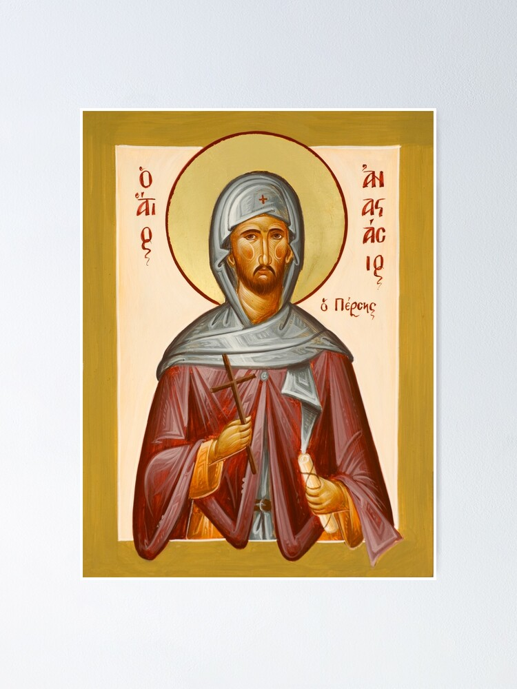Alternate view of St Anastasios the Persian Poster
