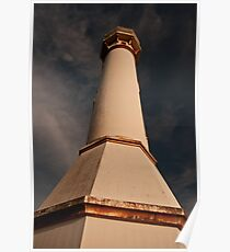 Red Sunset at Bolinao's Famous lighthouse Poster