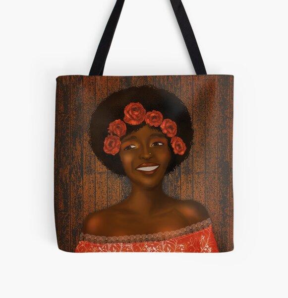 Autumn joy-black girl magic. All Over Print Tote Bag
