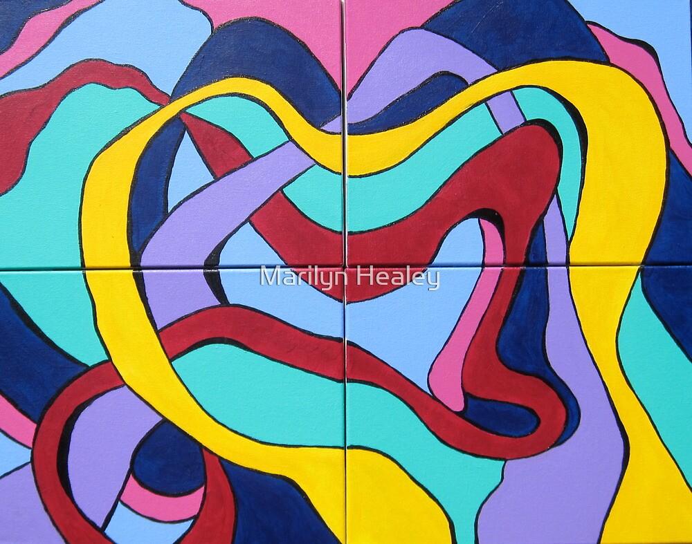 Ribbon Quartet by Marilyn Healey