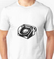 Telephone Vintage Woodcut Unisex T-Shirt
