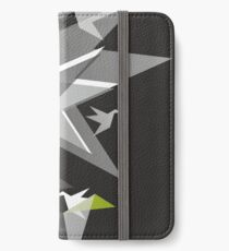 Black and White Paper Cranes iPhone Wallet/Case/Skin