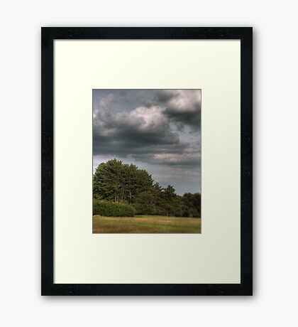 Layered Clouds Framed Print